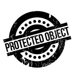 Protected object rubber stamp vector