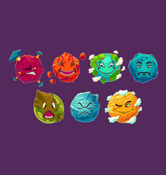 Set of cartoon fantasy alien vector