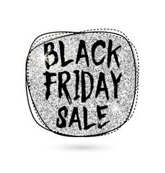 Silver black friday sale vector