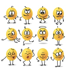smiley emotions vector image