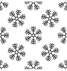 snowflake seamless pattern on white background vector image vector image