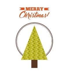 Triangle pine tree icon merry christmas design vector