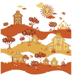village street vector image