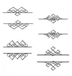 Vintage monograms vector