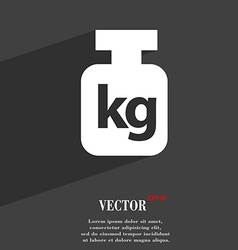 Weight symbol Flat modern web design with long vector image