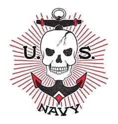 Old school US Navy design vector image
