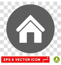 Home round eps icon vector