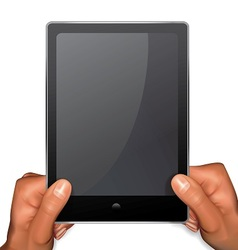 Arms with tablet pc vector image