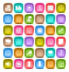 Set of media social icon vector