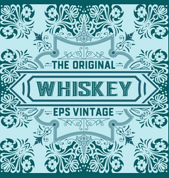 Vintage label design for whiskey and wine label vector