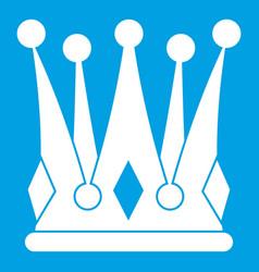 Kingly crown icon white vector