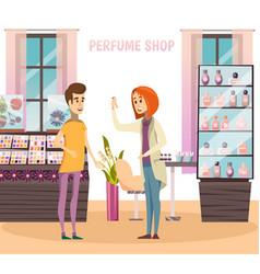 Perfume shop composition vector
