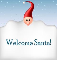 Cartoon Santa beard frame vector image