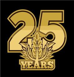 LaurelNew New 25 godina resize vector image
