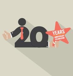 20 years anniversary typography design illu vector