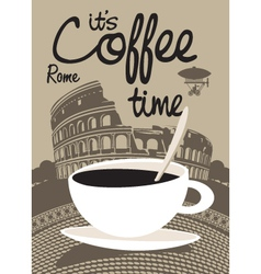 Coffee Rome vector image