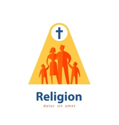 family logo design template people or religion vector image