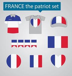 France the patriot set vector image