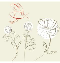 cartoon style card vector image