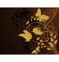 elegant floral background vector image