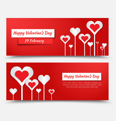 Banner design for valentines day vector