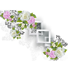 background with rose vector image