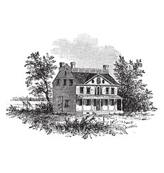 Beekmans mansion vintage vector