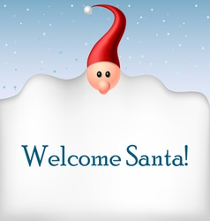 Cartoon Santa beard frame vector image vector image