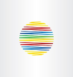 Circle colorful line globe abstract background vector