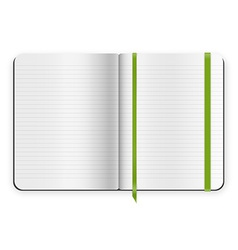 copybook template vector image vector image