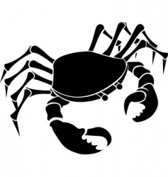crab illustration vector image vector image