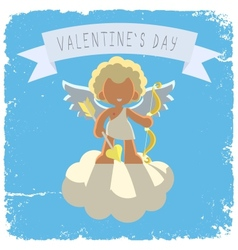 cupid on a cloud vector image vector image