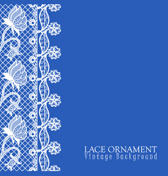 decorative background with lace desig vector image