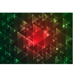 Flat red and green geometric rectangle background vector