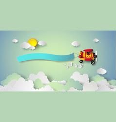 flying plane with the banner vector image