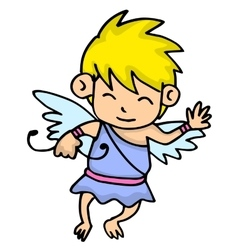 Funny cupid cartoon art vector
