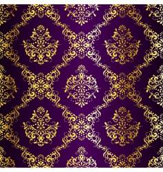 gold-on-purple seamless vector image vector image