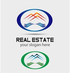 House roofs icon logo for the company isol vector