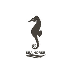 Icon of seahorse vector
