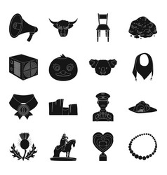 Landmark computer animal and other web icon in vector