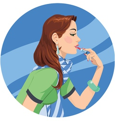 Lipstick girl vector