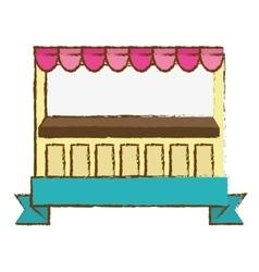 Market stall icon vector