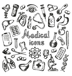 Medical icons and elements of health vector