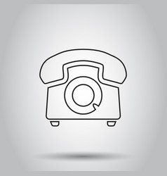 Phone icon in line style on isolated background vector