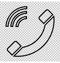 Phone sign line icon vector