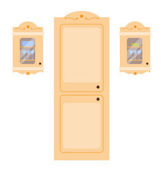 Residential interior of modern kitchen in luxury vector