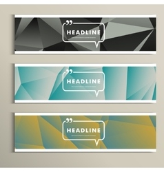 Set of banner for design in abstract style vector image vector image