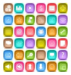 Set of media social icon vector image