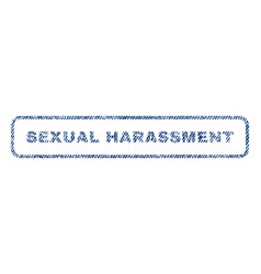 Sexual harassment textile stamp vector
