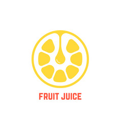 simple yellow fruit juice logo vector image vector image